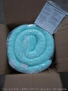 RUUF queen size 3 inch high density ventilated mattress topper medium firm