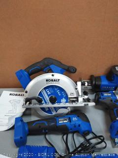 Kobalt 4-Tool 24-Volt Max Brushless Power Tool Combo Kit with Soft Case(Retail $279)