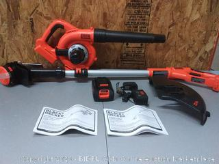 BLACK+DECKER 40V Max Cordless Sweeper & String Trimmer Combo Kit (LCC340C)(Retails $127)
