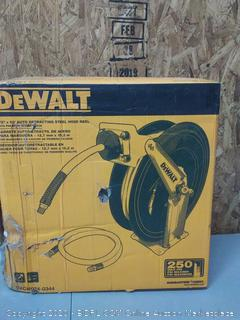 DEWALT 1/2 in. x 50 ft. Double Arm Auto Retracting Air Hose Reel(Retails $131)