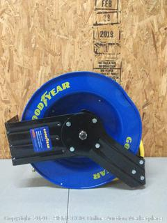 Goodyear Steel Retractable Air Compressor/Water Hose Reel with 3/8 in. (Retail $112)(L815153G)