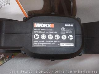 """WORX 20V Power Share Cordless 22"""" Hedge Trimmer(Retails $100)(Powers On)"""