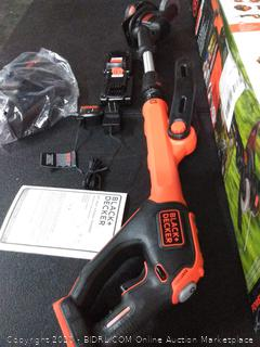 BLACK+DECKER LSTE525 20V MAX Lithium Easy Feed String Trimmer/Edger with 2 Batteries (Retails $97)