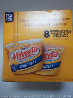 Velveeta mac and cheese microwavable 8 Single serves