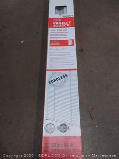 project source 1/8 cordless vinyl mini blind White