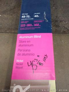 Levolor aluminum nickel blinds trim and go