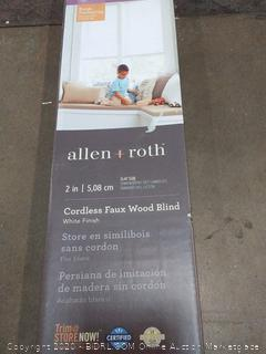 Allen and Roth cordless faux wood blinds white finish