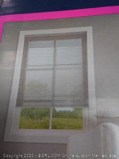 Levolor aluminum nickel colored blinds trim and go