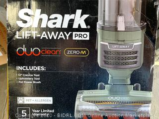 Shark Lift Away Vacuum  Duo clean with Zero- M. (powers on)(MRSP over $240)