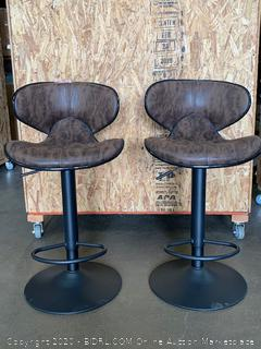 Two superjare stools with backrest - Brown (Retail price $169.99)