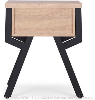ACME Furniture Kalina End Table, Rustic Natural & Black (Online $115)
