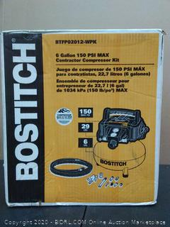 Bostitch 6 gallon 150 psi Max contractor compressor kit (powers on)