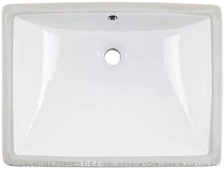 "White Rectangular Porcelain Sink model # U2230W  overall dimensions 17"" x 17 1/2"" x 7 1/2"""