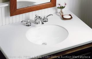 """Sterling Wescott Undercounter Lavatory model # 442040 overall Dimensions: L 17"""", H 7-7/8"""", W 13"""", D 4"""""""