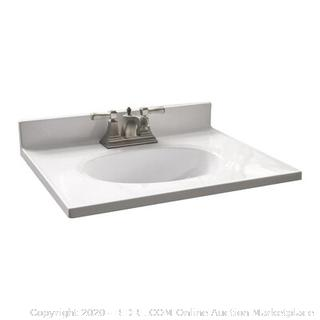 Design House Cultured Marble Vanity Top overall dimenions 25x19