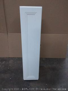 Schuler white cabinet with no slam door