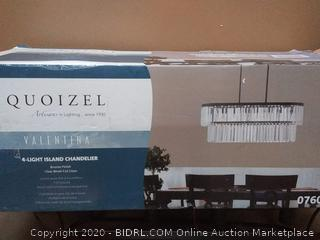 Quoizel Valentina 4-Light Painted Bronze Traditional Kitchen island chandelier (Retails $140)