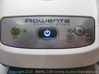 Rowenta 400-Holes, Green DG7530 Compact Steam Station 1800-Watt, Advanced 40-Oz Water Capacity (RETAIL$171)