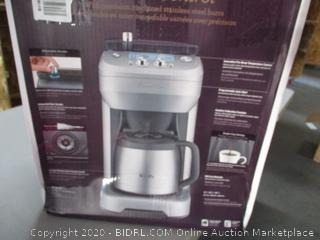 Breville BDC650BSS Grind Control Coffee Maker, Brushed Stainless Steel (RETAIL$300)