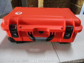 Nanuk 935 Waterproof Carry-On Hard Case with Lid Organizer and Padded Divider w/Wheels - Orange (RETAIL$270)