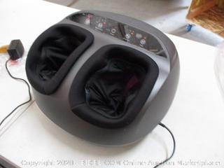 RENPHO Shiatsu Foot Massager Machine with Heat, Deep Kneading Therapy, Compression, Relieve Foot Pain from Plantar Fasciitis, Improve Blood Circulation, Fits feet up to Men Size 12 (RETAIL $120)