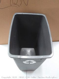 Rubbermaid Swing-Top Lid Recycling Bin for Home, Kitchen, and Bathroom, 12.5 Gallon