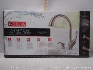 Delta Ashton Kitchen Sink Faucet Brushed Stainless Steel Pull (online $205)