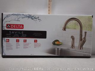 Delta Savile Stainless Single Handle Kitchen Faucet (online $149)