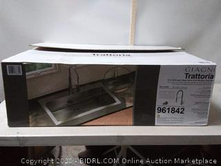 Giagni Trattoria 33-in X 22-in Stainless Steel Sink (online $399)