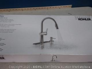 KOHLER Koi Vibrant Stainless 1-handle Deck Mount Pull-down Kitchen Faucet (online $388)