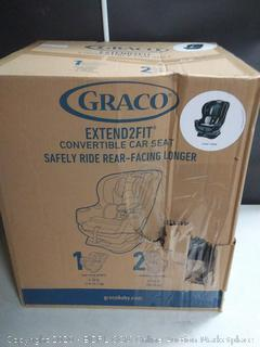 Graco Extend2Fit Convertible Car Seat Ride Rear Facing Longer with Extend2Fit, Gotham Factory sealed box damage (online $159)