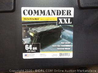 Commander 23.2 x 21.1 x 46.5 in 64 gal storage tub (needs handles)