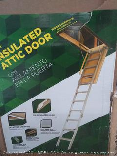 Louisville aluminum attic ladder Elite energy series