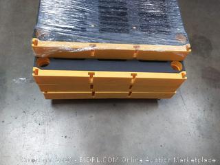 5 tier black and Yellow plastic Shelf