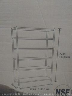 S Storage heavy duty 6 tier shelving unit