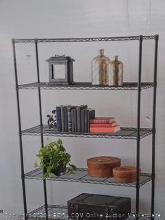 a storage 5 tier shelving unit