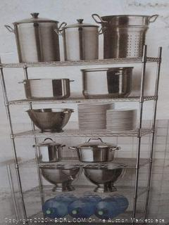 S Storage heavy duty 6 tier shelving unit