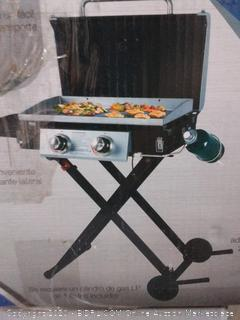 Blue Rhino Razor Black and Silver/Powder Coated 2-Burner Liquid Propane Gas Grill ( Retail $199)