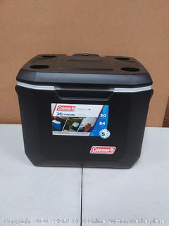 Coleman black cooler wheeled 50 quart