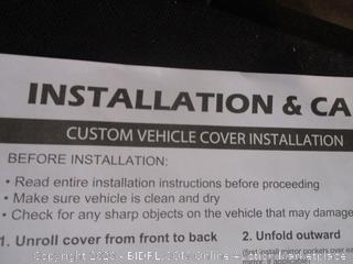 Custom Vehicle Cover Instillation