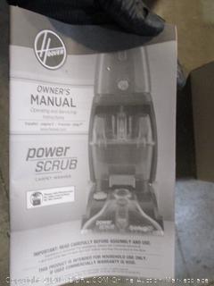 Hoover Power Scrub Carpet Washer