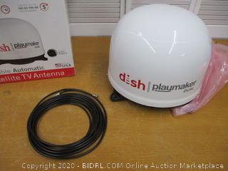 Winegard PL-8000 White Dish Playmaker HD Satellite Antenna Dual Receiver Capability