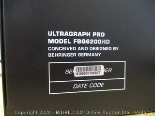 Behringer ULTRAGRAPH PRO FBQ6200HD HD Dual Channel Stereo Graphic Equalizer