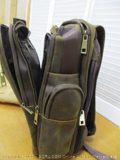 Polare Full Grain Leather Multi-Functional Backpack Stool Combo