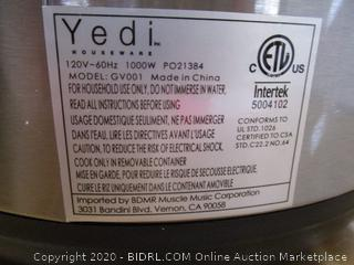 Yedi 9-in-1 Total Package Instant Programmable Pressure Cooker, 6 Quart