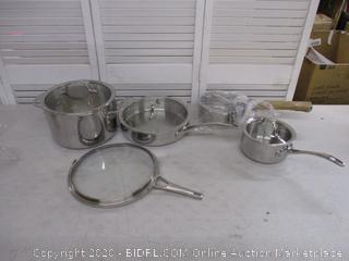 Calphalon Tri-Ply Stainless Steel Cookware Set (Retail $300)