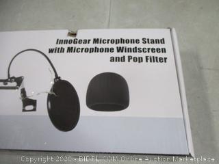 Inno Gear Microphone Stand with Microphone windscreen and Pop Filter