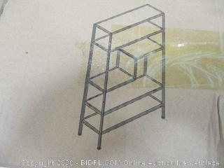 5-Tier Metal Frame  with Faux Marble Shelf Rack