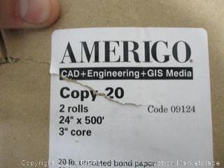 Amerigo uncoated bond paper  92 brightness
