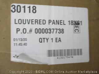 Louvered Panel